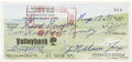 Autographs:Checks, 1971 Nellie Fox Signed Personal Check....