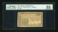 Colonial Notes:New Jersey, New Jersey March 25, 1776 1s PMG About Uncirculated 55....