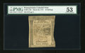 Colonial Notes:Pennsylvania, Pennsylvania March 20, 1773 16s PMG About Uncirculated 53....
