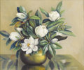 Texas:Early Texas Art - Regionalists, MARY EDWARDS (1871-1951). Still Life with Magnolia Blossoms.Oil on canvas. 25in. x 30in.. Signed lower right. Provena...