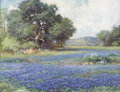 Texas:Early Texas Art - Impressionists, ROBERT WOOD (1889-1979). Untitled Bluebonnet Landscape, 1944. Oilon canvas. 20in. x 26in.. Signed and dated lower right. ...