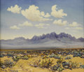 Texas:Early Texas Art - Regionalists, BERLA EMEREE (1899-1948). Organ Mountains. Oil on masonite.10in. x 12in.. Signed lower left. Titled verso. The Organ...