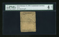 Colonial Notes:Continental Congress Issues, Continental Currency February 17, 1776 $1/2 PMG Good 4 Net....