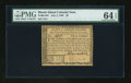 Colonial Notes:Rhode Island, Rhode Island July 2, 1780 $3 PMG Choice Uncirculated 64 EPQ....