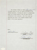 Autographs:Others, 1955 Nellie Fox Signed Player Contract Renewal....