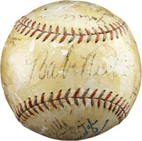 1932 New York Yankees Team Signed Baseball