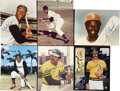 Autographs:Photos, Baseball Hall of Famers Signed Photographs Lot of 6....