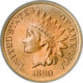 Indian Cents, 1880 1C MS66 Red PCGS....