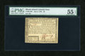 Colonial Notes:Rhode Island, Rhode Island July 2, 1780 $5 Fully Signed PMG About Uncirculated 55 EPQ....