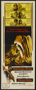 "Movie Posters:Adventure, Moby Dick (Warner Brothers, 1956). Insert (14"" X 36"").Adventure...."