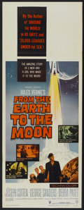 "Movie Posters:Science Fiction, From the Earth to the Moon (Warner Brothers, 1958). Insert (14"" X 36""). Science Fiction...."