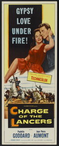 "Movie Posters:Action, Charge of the Lancers (Columbia, 1954). Insert (14"" X 36"").Action...."