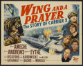 "Movie Posters:War, Wing and a Prayer (20th Century Fox, 1944). Half Sheet (22"" X 28"").War...."