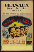 "Movie Posters:War, So Ends Our Night (United Artists, 1941). Window Card (14"" X 22"").War...."
