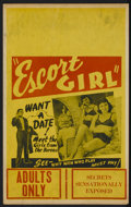 "Movie Posters:Bad Girl, Escort Girl (Continental, 1941). Window Card (14"" X 22""). BadGirl...."