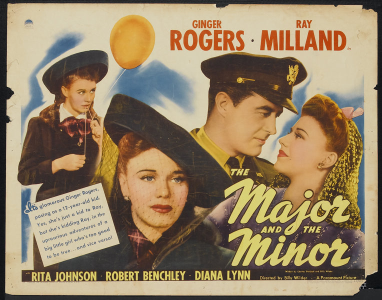 """The Major and the Minor (Paramount, 1942). Half Sheet (22"""" X 28"""") 