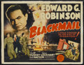 """Movie Posters:Crime, Blackmail (MGM, 1939). Half Sheet (21"""" X 27""""). Crime...."""