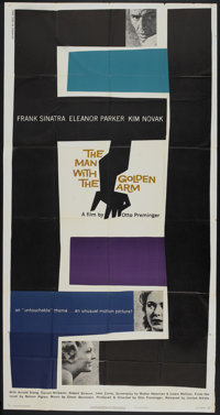 "The Man With the Golden Arm (United Artists, 1955). Three Sheet (41"" X 81""). Drama"