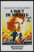 "Movie Posters:Action, Breathless Lot (Orion, 1983). Belgian Posters (5) (14"" X 21.5"").Action.... (Total: 5 Items)"