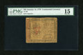 Colonial Notes:Continental Congress Issues, Continental Currency January 14, 1779 $55 PMG Choice Fine 15....