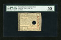 Colonial Notes:Massachusetts, Massachusetts May 5, 1780 $8 PMG About Uncirculated 55....