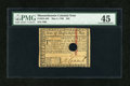 Colonial Notes:Massachusetts, Massachusetts May 5, 1780 $20 PMG Choice Extremely Fine 45....