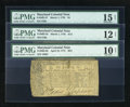 Colonial Notes:Maryland, Maryland 1770-1774 Trio PMG Very Good 10 Net or better.... (Total:3 notes)