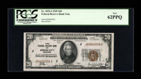Fr. 1870-J $20 1929 Federal Reserve Bank Note. PCGS New 62PPQ