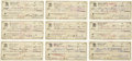 Autographs:Checks, 1980-85 Edd Roush Signed Checks Lot of 46....