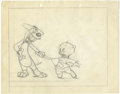 Animation Art:Production Drawing, Porky Pig and Mister Magoo Animation Production Drawing OriginalArt, Group of 2 (Warner Bros./UPA, undated).... (Total: 2 Items)