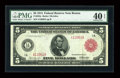 Fr. 832a $5 1914 Red Seal Federal Reserve Note PMG Extremely Fine 40 EPQ