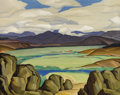 Paintings, OSCAR BROUSSE JACOBSON (American, 1882-1966). North Park Ranch, 1944. Oil on canvas. 21 x 28 inches (53.3 x 71.1 cm). Si...