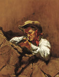 Western:20th Century, PROPERTY FROM THE TIP AND PATRICIA FREEMAN COLLECTION. . FRANK MCCARTHY (American, 1924-2002). The Gun Slinger, circa 19...