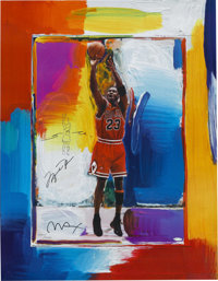 Michael Jordan Signed Peter Max Lithograph with Remarque