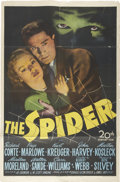 Memorabilia:Poster, The Spider Movie Poster (20th Century-Fox, 1945)....