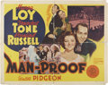 Memorabilia:Poster, Man Proof Movie Poster (MGM, 1938)....
