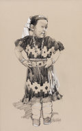 Western:20th Century, HOLLIS WILLIFORD (American, 1940-2007). Navaho Child. Charcoal and graphite on paper. 22 x 14 inches (55.9 x 35.6 cm) wi...