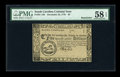 Colonial Notes:South Carolina, South Carolina December 23, 1776 $5 PMG Choice About Unc 58 EPQ....