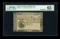 Colonial Notes:South Carolina, South Carolina December 23, 1776 $8 PMG Gem Uncirculated 65 EPQ....