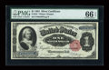 Large Size:Silver Certificates, Fr. 223 $1 1891 Silver Certificate PMG Gem Uncirculated 66 EPQ....