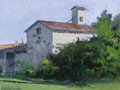 Texas:Early Texas Art - Modernists, JOHN POTOTSCHNIK (American, b. 1946). White Barn. Oil onboard. 9 x 12 inches (22.9 x 30.5 cm). Signed lower left:Pot...