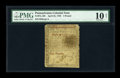 Colonial Notes:Pennsylvania, Pennsylvania April 25, 1759 £5 PMG Very Good 10 NET....