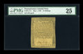 Colonial Notes:Pennsylvania, Pennsylvania May 1, 1760 15s PMG Very Fine 25....