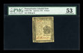 Colonial Notes:Pennsylvania, Pennsylvania April 25, 1776 6d PMG About Uncirculated 53....