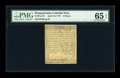 Colonial Notes:Pennsylvania, Pennsylvania April 10, 1777 6d PMG Gem Uncirculated 65 EPQ....