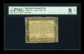 Colonial Notes:Maryland, Maryland June 8, 1780 $2 PMG Very Good 8 Net....