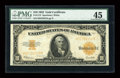 Large Size:Gold Certificates, Fr. 1173 $10 1922 Gold Certificate PMG Choice Extremely Fine 45....