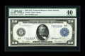 Large Size:Federal Reserve Notes, Fr. 1047 $50 1914 Federal Reserve Note PMG Extremely Fine 40....