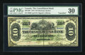Canadian Currency: , Montreal, PQ- Consolidated Bank $10 July 1, 1876 Ch. # 205-10-06....