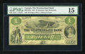 Canadian Currency: , Moncton, NB- The Westmoreland Bank $1 Aug. 1, 1861 Ch. # 800-12-02a. ...
